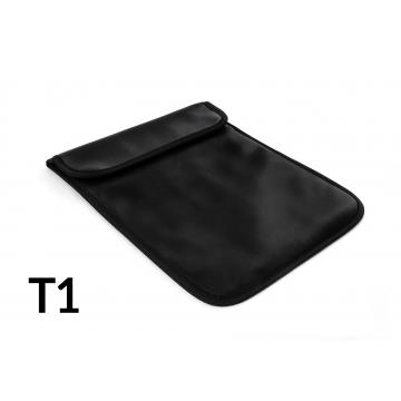 Shielding case for the tablets to protect against interception, localization and monitoring up to 10 inches - black