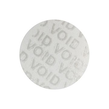 Transparent VOID sticker with no residue glue, round, 30 mm