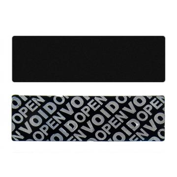 Black non-residual rectangular VOID sticker with high adhesion