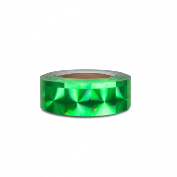 Hologram self-adhesive tape 50 mm, motive squares green
