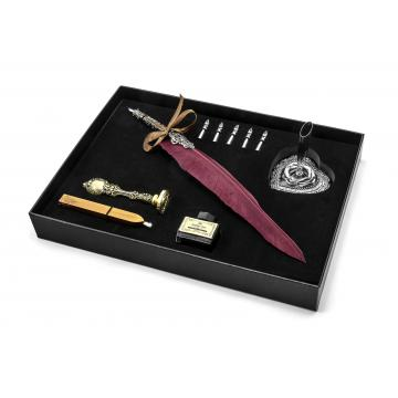 Wax seal set bearing your own design and a calligraphic quill pen