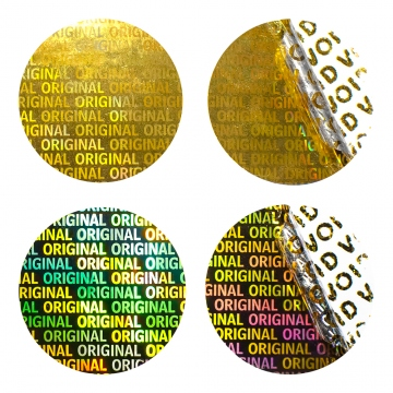 Hologram security VOID sticker Original - golden 30 mm