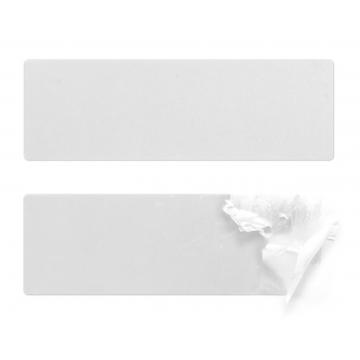 Rectangular security polystyrene (EPS) sealing stickers 120x40mm