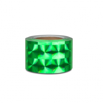 Hologram self-adhesive tape 100 mm, motive squares green
