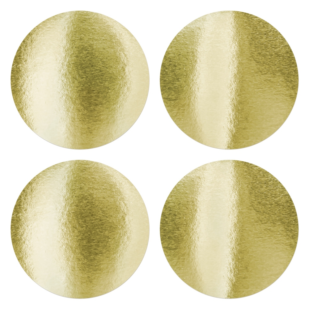 Round sticker to highlight the dry impress - gold 45mm