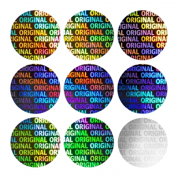 Round hologram sticker ORIGINAL - silver 20 mm