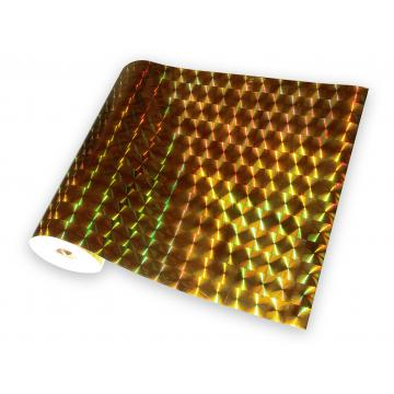 Universal holographic adhesive foil on meters - squares gold