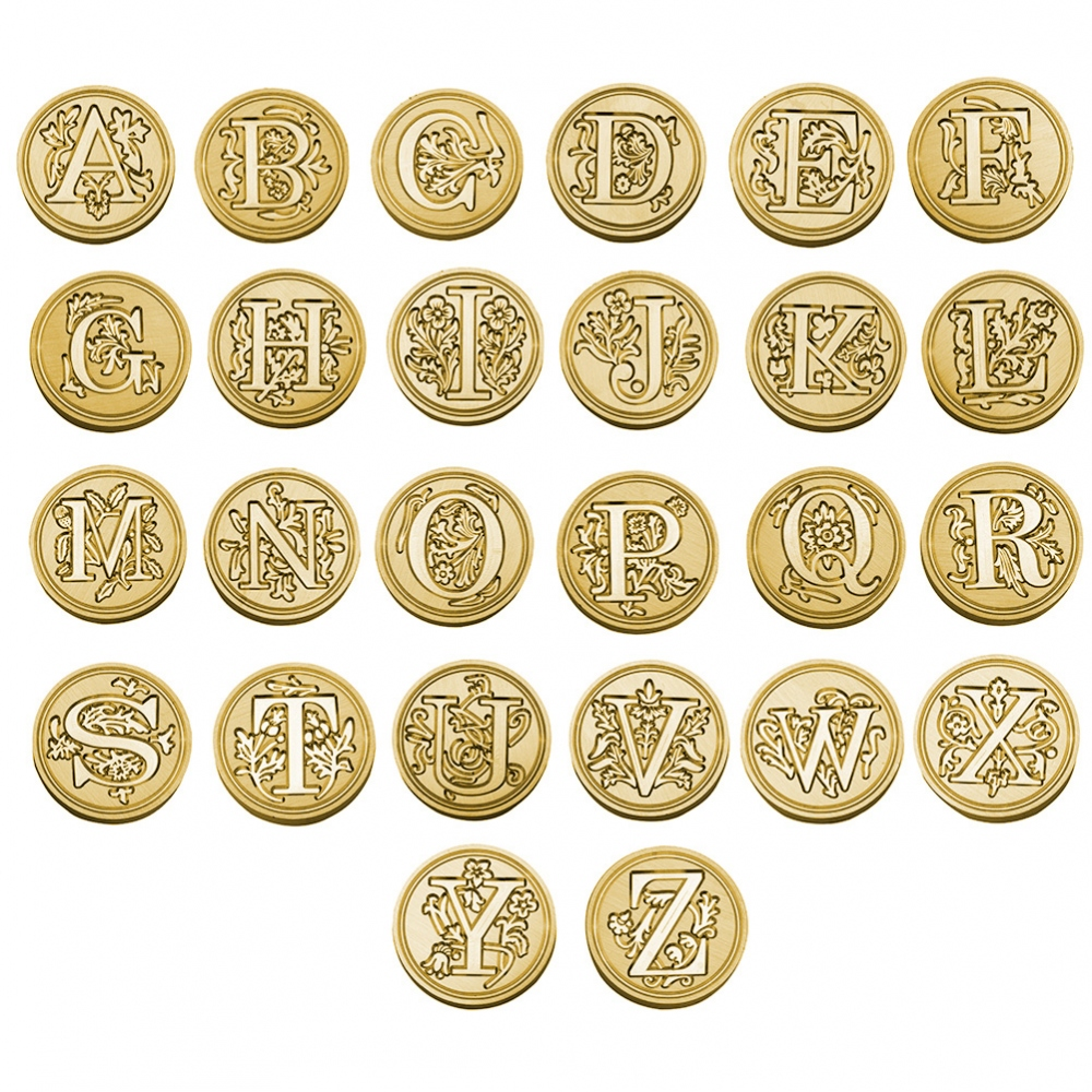 Brass seal stamp (stamping block) for wax - a decorative block letter A