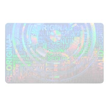 Prefabricated master transparent hologram for ID card