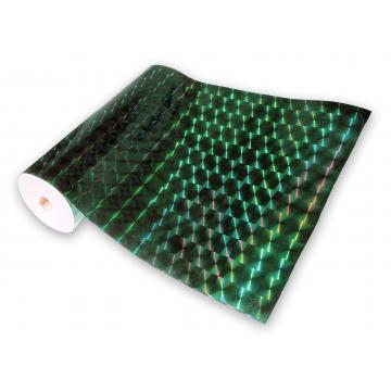 Universal holographic adhesive foil on meters - squares green