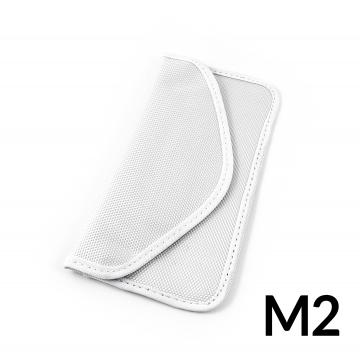 Shielding case for the phone to protect against interception and localization - white