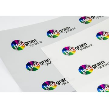 Silver matte self-adhesive foil with VOID layer for printing at the A5 laser printer