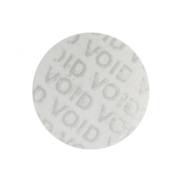 VOID transparent sticker 25 mm