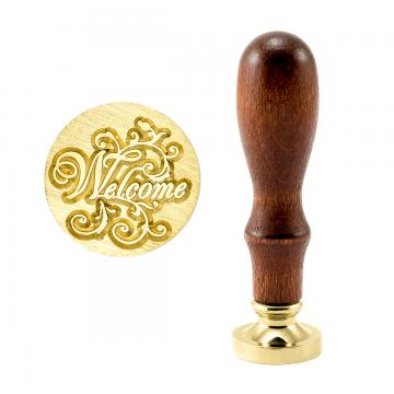 Brass wax stamp - Welcome