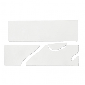 Destructive vinyl sticker, white, no print, 10 x 3 cm