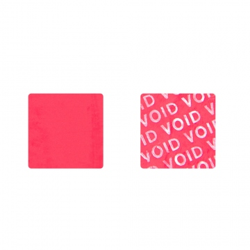 Non-residual VOID sticker for cell phone camera - red 20 x 20 mm