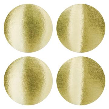 Round sticker to highlight the dry impress - gold 40mm